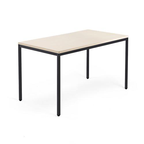 Työpöytä Modulus, 4 jalkaa, 1400x800 mm, musta jalusta, koivu