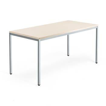 Modulus desk, 4-leg frame, 1600x800 mm, silver frame, birch