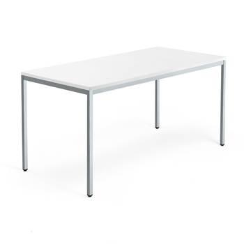 Modulus desk, 4-leg frame, 1600x800 mm, silver frame, white