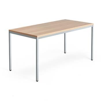 Modulus desk, 4-leg frame, 1600x800 mm, silver frame, oak