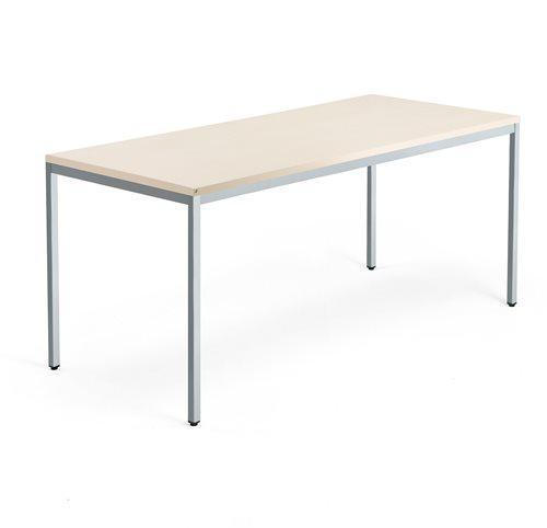 Työpöytä Modulus, 4 jalkaa, 1800x800 mm, hopeanharmaa jalusta, koivu