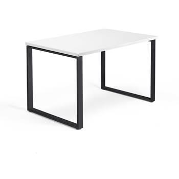 Skrivbord Modulus, o-stativ, 1200x800 mm, svart, vit