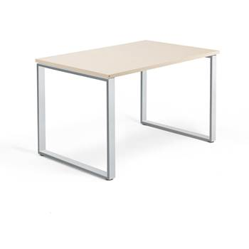 Skrivbord Modulus, o-stativ, 1200x800 mm, silver, björk