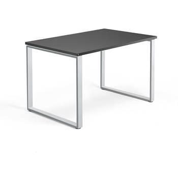 Skrivbord Modulus, o-stativ, 1200x800 mm, silver, svart