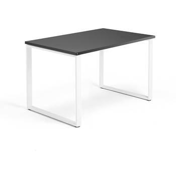 Skrivbord Modulus, o-stativ, 1200x800 mm, vit, svart