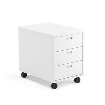 Modulus mobile pedestal, 3 drawers, white