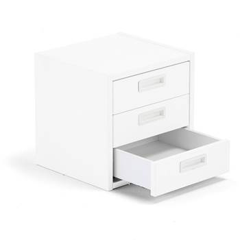 Modulus drawer unit, 3 drawers, white