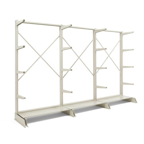 Package deal: light-duty cantilever racking: single sided