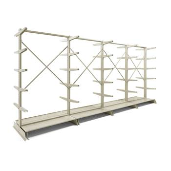 Light-duty cantilever racking package deal, double sided