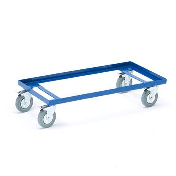 Trolley for boxes/crates, rubber wheels, 860x410 mm