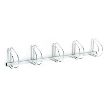 Wall mounted bicycle rack: 5 bikes