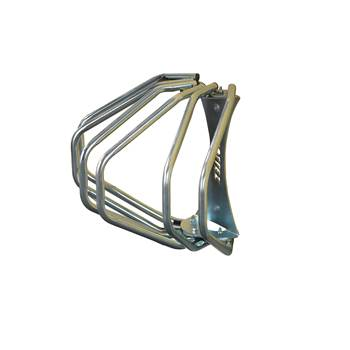 Wall mounted bike rack, 3 bikes, 330x500x300 mm