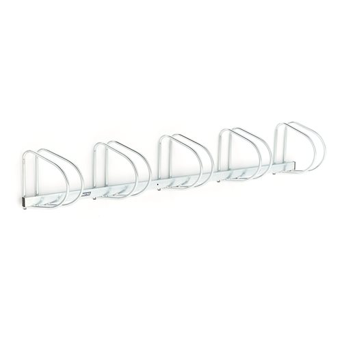 Wall mounted bike rack: 5 bikes