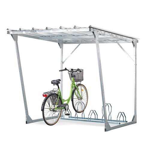 Bike Rack Shelter : Bicycle shelter aj products