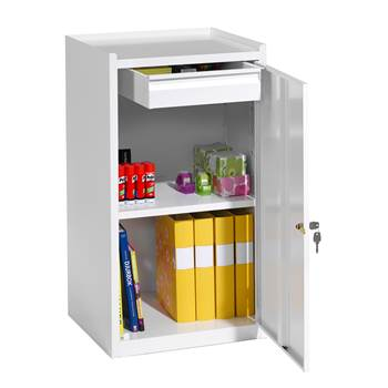Workshop cabinet, 1 drawer, 900x500x450 mm, white