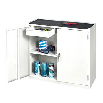 Workshop cabinet, 2 drawers, 900x950x450 mm, white