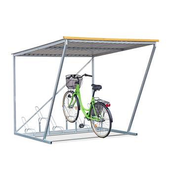 Complete bicycle shelter, 6 bicycles
