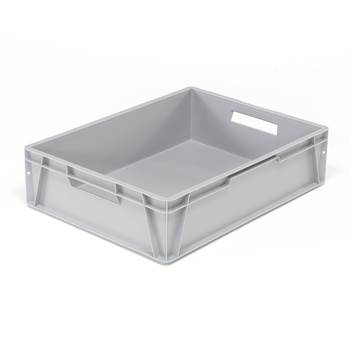 Euro plastic boxes, 800x600x200 mm, 80 L, grey