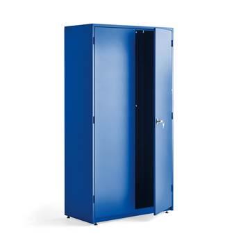 Maskinskåp, 1900x1020x500 mm, blå, blå