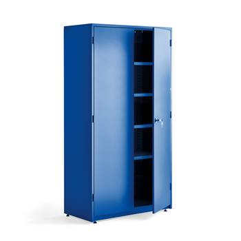 Extra deep storage cabinet, 1900x1020x500 mm, blue