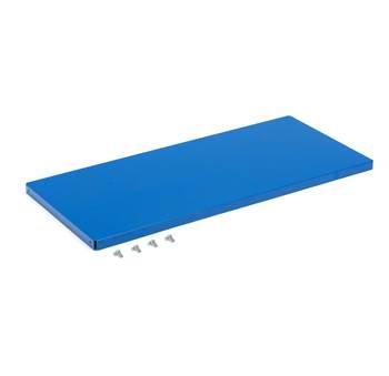 Dodatkowa półka 500 mm, obciążenie 70 kg, 975x440 mm, niebieska