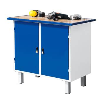 Flex workbench, static, 2 cabinets, 990x595x900 mm