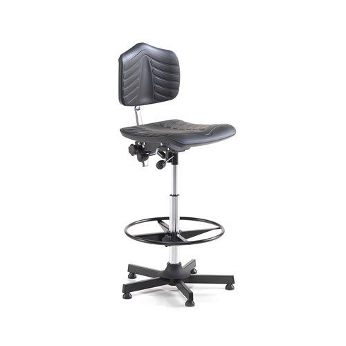 Krzesło robocze z podnóżkiem