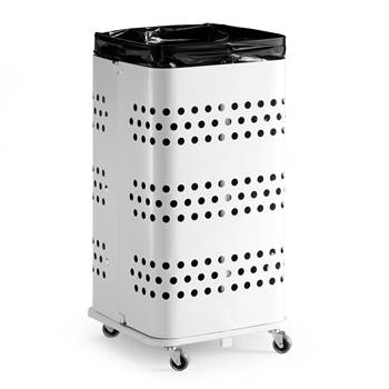 Refuse bag stand, without lid, 900x450x450 mm, 125 L, white