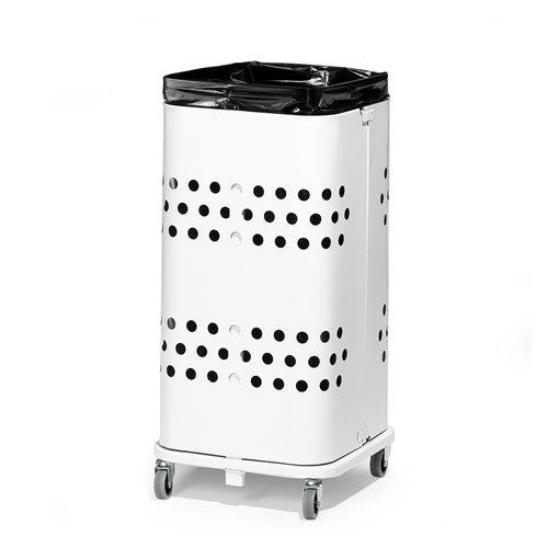 Biały stojak na worki 60 l  bez pokrywy