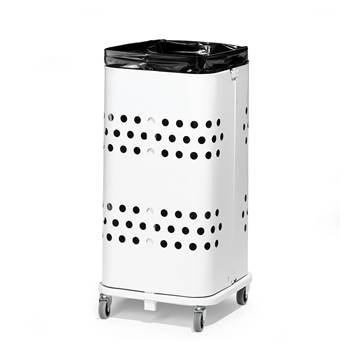 Refuse bag stand, without lid, 750x340x340 mm, 60 L, white