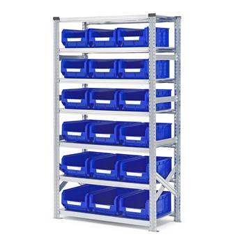 #en Shelf basic 1972x1050x500mm with 18pcs blue bins