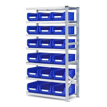 #en Add on unit 1972x1050x500mm with 18pcs blue bins