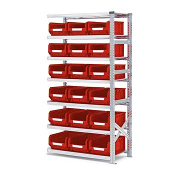 #en Add on unit 1972x1050x500mm with 18pcs red bins