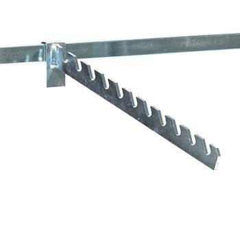 Clothing display arm for store shelving, L 300 mm