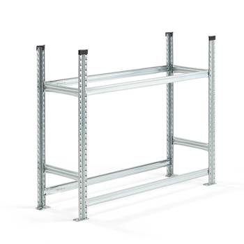 #en Tyre rack, 2 levels, basic unit, 1050x1200x400 mm