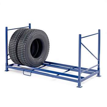 Tyre rack system for truck tyres, 600 kg load, 2400x1100x1260 mm