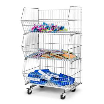 Open fronted display basket unit, 1360x870x600 mm