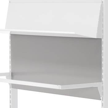 Retail display: metal back panel