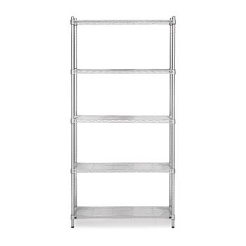 Chrome wire shelving system, 1825x1200x600 mm