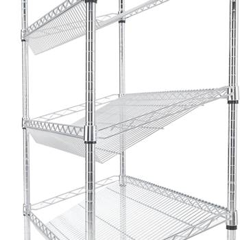Extra shelves for Slanted chromed wire shelving, 900x450 mm