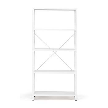 Light shelving basic unit, 170 kg load, 1970x950x400 mm, white, white