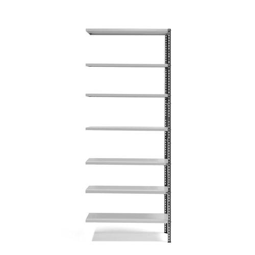 #en Power shelving, add-on unit, 2500x1005x400 mm, dark grey