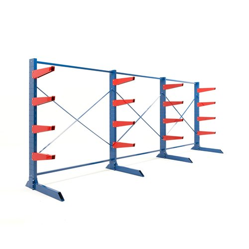 Package: heavy-duty cantilever racking: 600mm arms: 8000kg