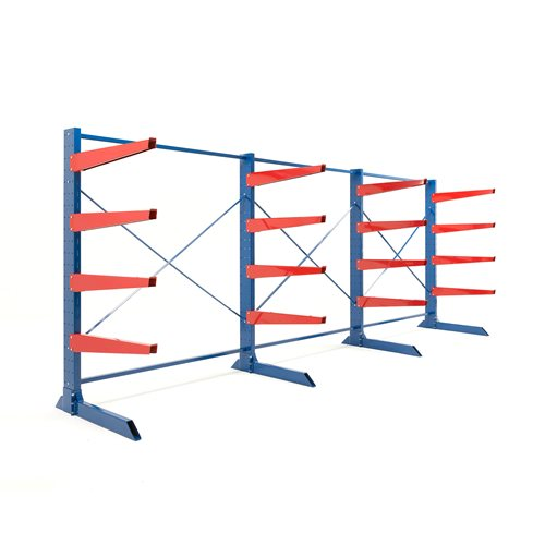 Package: heavy-duty cantilever racking: 1000mm arms: 4400kg