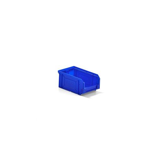 Niebieskie pojemniki magazynowe 1,1 l -150x80x165mm - 48szt w opakowaniu