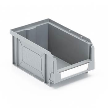 Oppbevaringsboks, 165x105x80 mm, grå