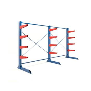 Heavy-duty cantilever racking package, 600 mm arms, 6000 kg load