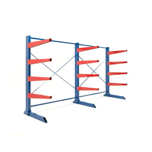 Package: heavy-duty cantilever racking: 1000mm arms: 3300kg