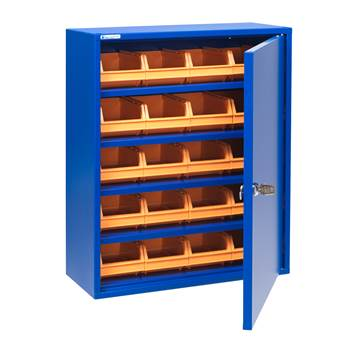 Small storage cabinet: H580mm: (inc. bins): blue