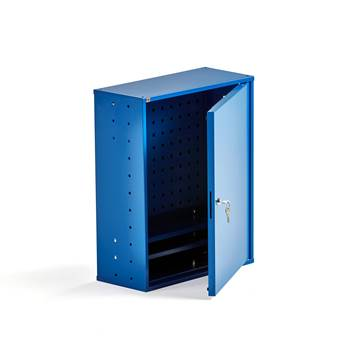 Small component cabinet with tool panels, 580x470x205 mm, blue